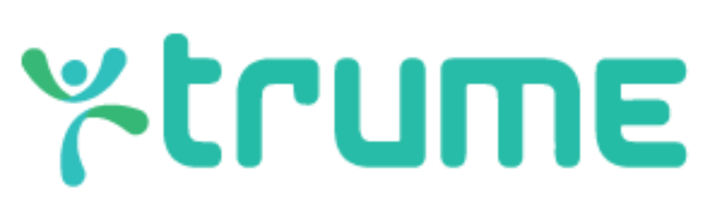 image of trume logo, human icon and word trume
